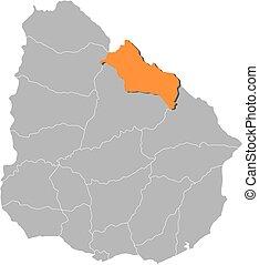 Map - Uruguay, Rivera
