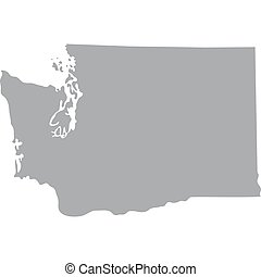 map of the u s state of washington