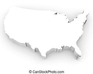 map., usa