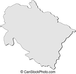 Uttarakhand map. Uttarakhand (states and union territories ...