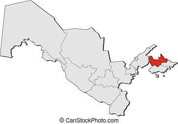 Map namangan uzbekistan Map of namangan a province of vector