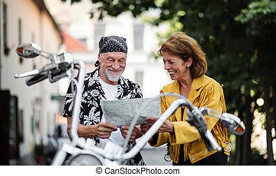map., város, senior összekapcsol, mozgó szerkezetek,...