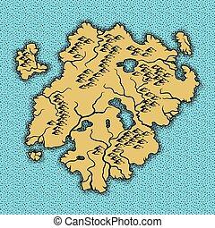 map., vecchio, fondo, nautico