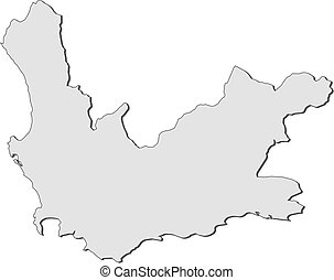west africa map clipart