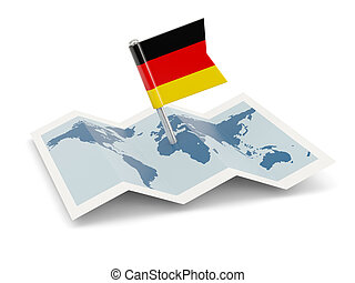 Map with flag of germany
