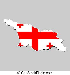 Map with national flag
