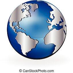 Map world globe - Earth shine map world globe vector graphic...