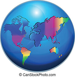 Map world globe