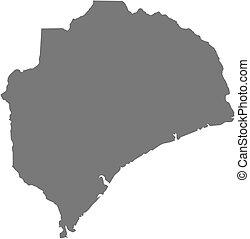 Map - Zambezia (Mozambique)