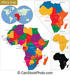 mapa, áfrica