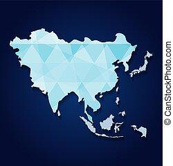 mapa, ásia, ícone