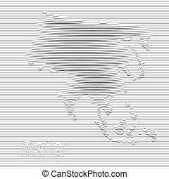 mapa, ásia