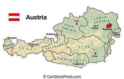 mapa, áustria