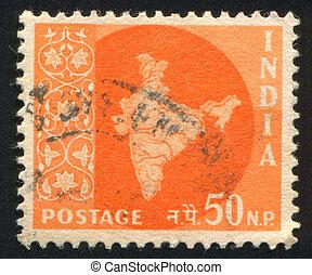 mapa, índia