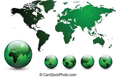 mapa, świat