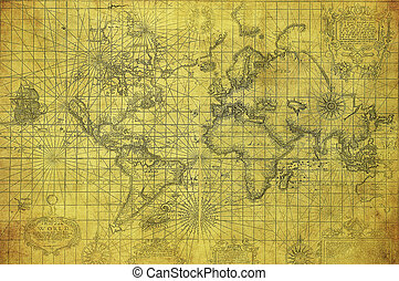 mapa, 1657, společnost, vinobraní