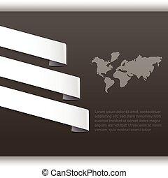 mapa, abstraktní, jmenovka, noviny, grafické pozadí, společnost