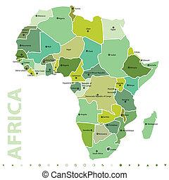 mapa, africano