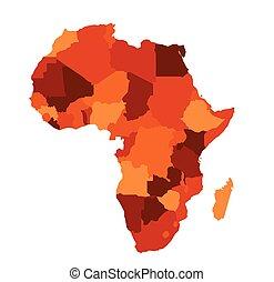mapa, afrika