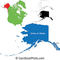 mapa, alasca