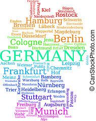 mapa, alemania