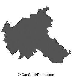 mapa,  -, alemania, Hamburgo