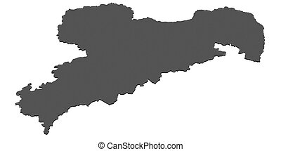mapa,  -, alemania,  sachsen