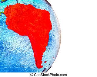mapa, américa, 3d, sul, terra
