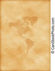mapa, américa, antigas