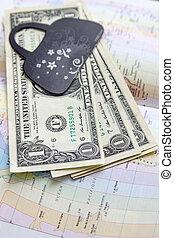 mapa, américa, dinheiro