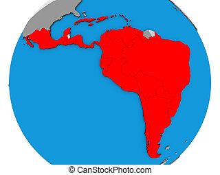 mapa, américa latina, 3d