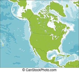 mapa, américa, norte