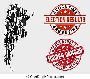mapa, angústia, watermark, perigo, composição, escondido, votando, argentina