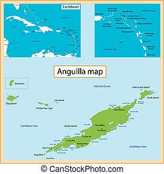mapa, anguilla
