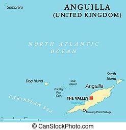 mapa, anguilla, político
