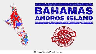 mapa, angustia, collage, isla, moscú, andros, bahamas, rogar, señal, mosaico, estampilla
