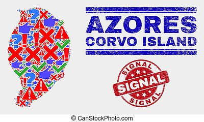 mapa, angustia, watermark, collage, isla, símbolo, corvo, señal, mosaico