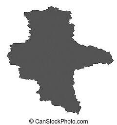 mapa,  anhalt,  -, alemania,  sachsen