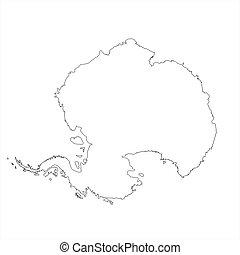 mapa, antártica, em branco
