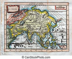 mapa antigüidade, original, ásia