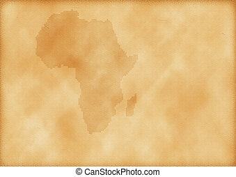 mapa, antigas, áfrica
