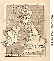 mapa antiguo, gran bretaña