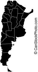 mapa,  Argentina,  -