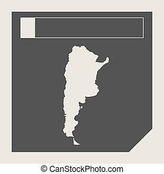 mapa,  Argentina, botón