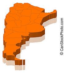 mapa, argentyna
