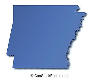 mapa, arkansas, -, estados unidos de américa