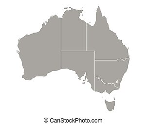 mapa, austrália