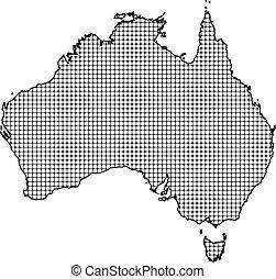 mapa, -, australia