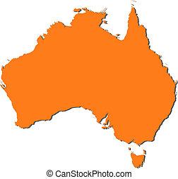 mapa, australia