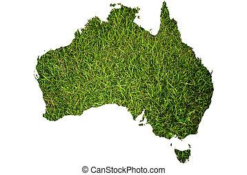 mapa, australia, pasto o césped, plano de fondo
